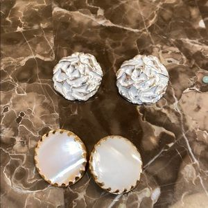 Two Pairs Vintage Sarah Coventry Clip Earrings